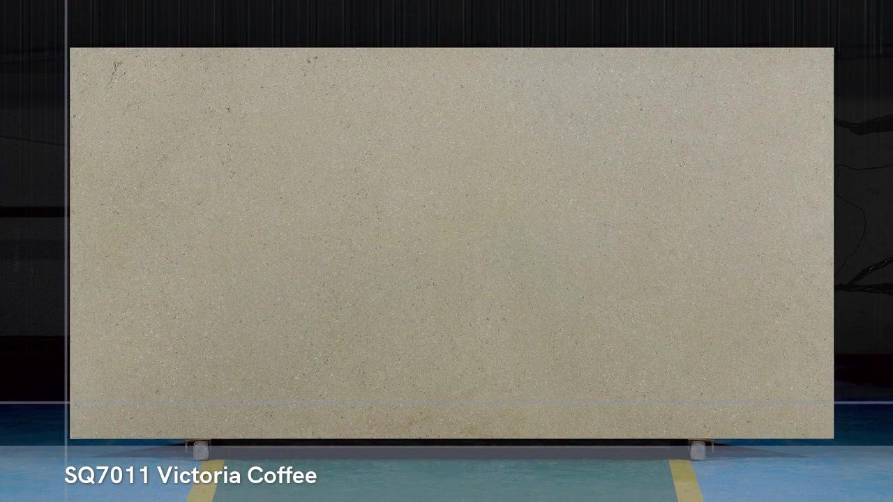 SQ7011中国広東省のビクトリアコーヒー製の大理石のような石英石