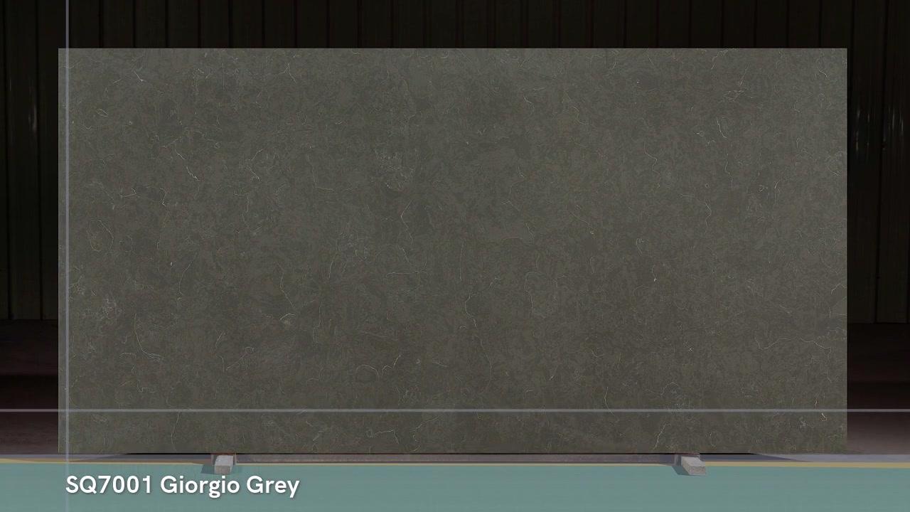 SQ7001 Giorgio Gray 3200X1600 polido pré-fabricado em mármore de aparência pedra de quartzo