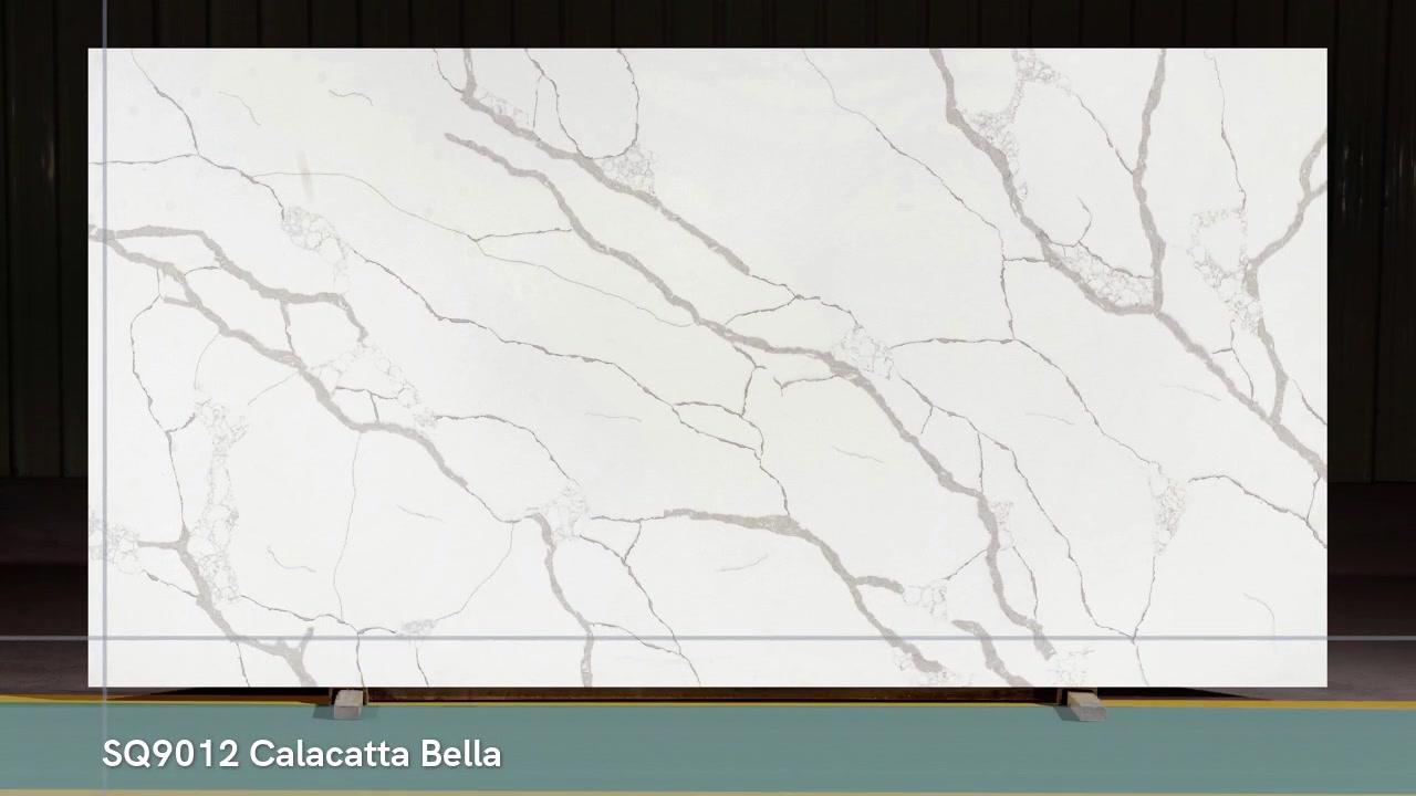 Классический белый и черный кварцевый камень calacatta в Китае