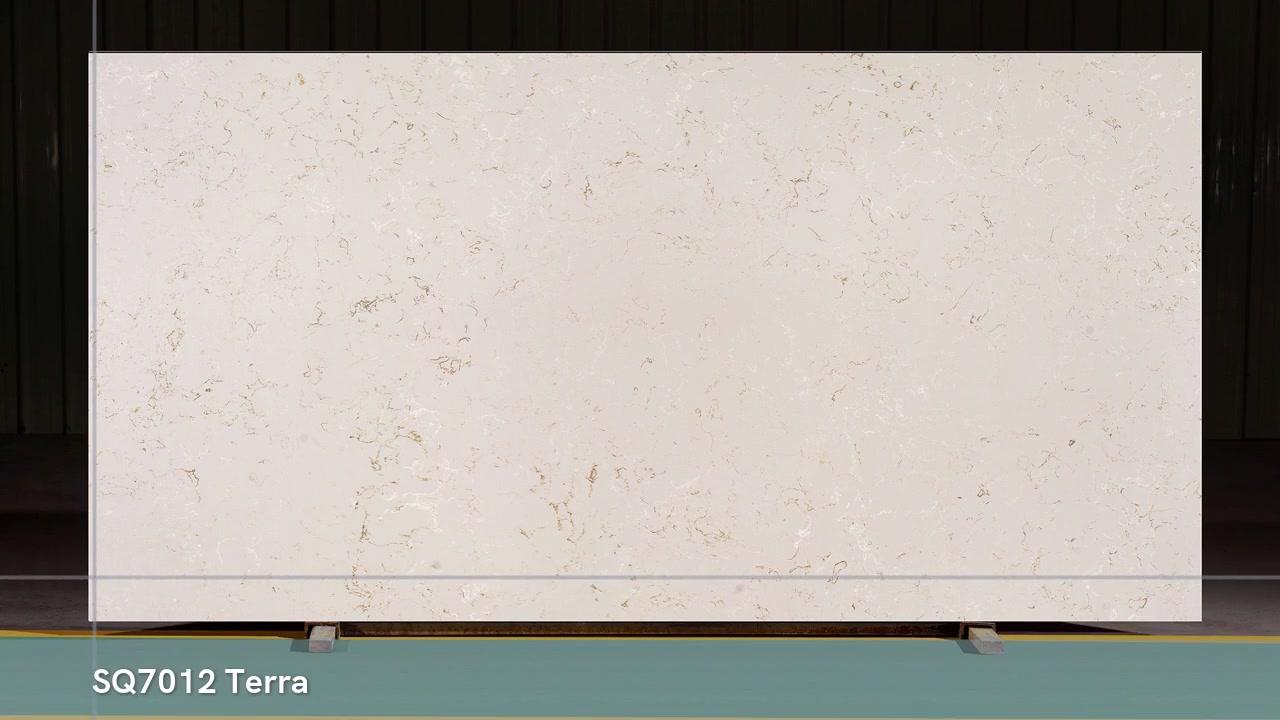 Le marbre de couleur beige SQ7012 ressemble à du quartz stne