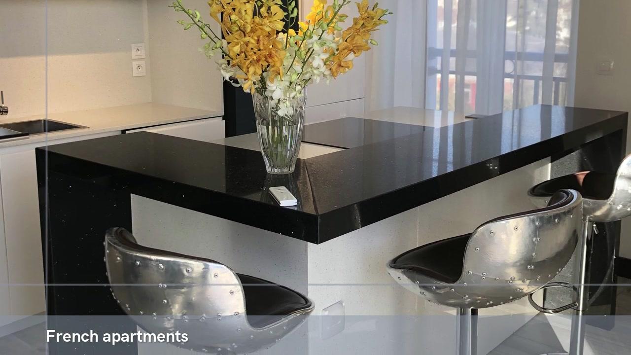 Professional Strong Quartz Apartments Engineered Quartz Slab