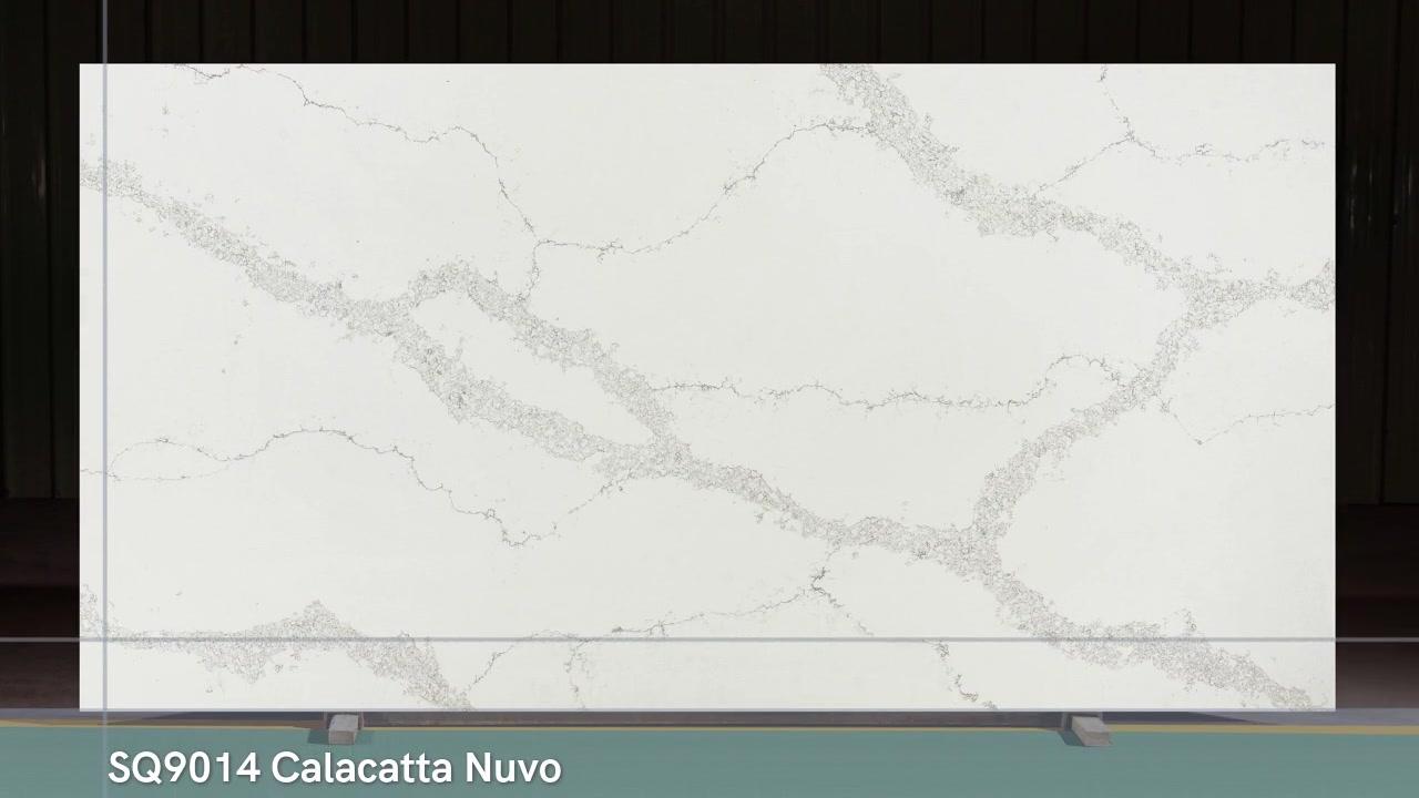 SQ9014 Calacatta Nuvo Ceasar 5131 Pierre de quartz Faites de votre cuisine à style