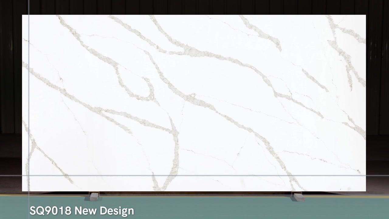 SQ9018 Calacatta White Project de StrongQuartz en China