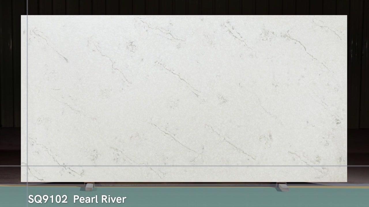 SQ9102 Calacatta ضوء رمادي رمادي ألواح حجر