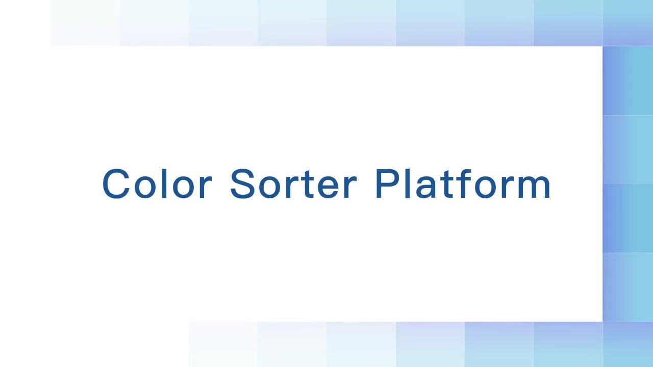 Farbsortierplattform