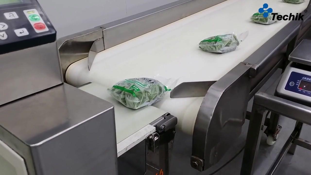 Abfallende Ablenkung des Lebensmitteldetektors für Metall- und Lebensmittel-Röntgenaufnahme