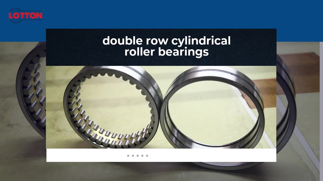 Professional Double Row Cylindrical Roller Bearings Manufacturers | LOTTON