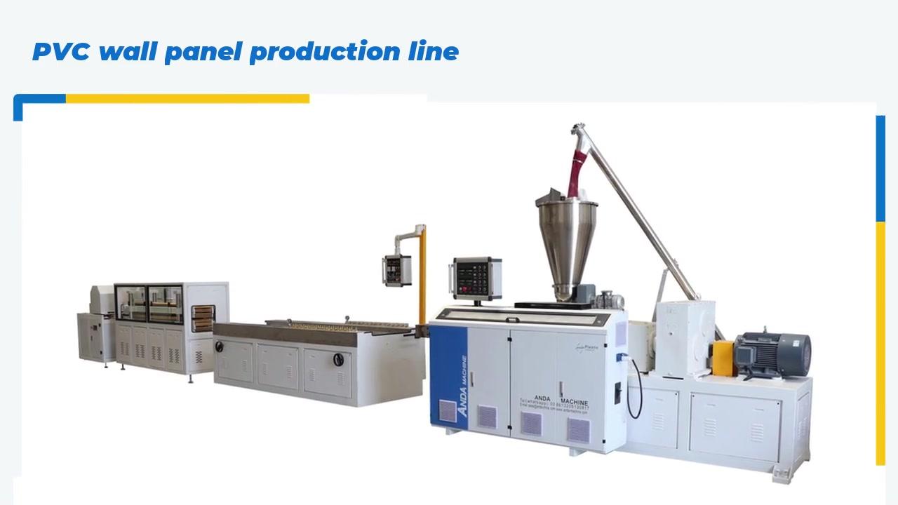 Cina Penjualan Panas PVC Panel Dinding Lini Produksi PVC Mesin Pembuat Langit-langit Produsen-dana Machinery
