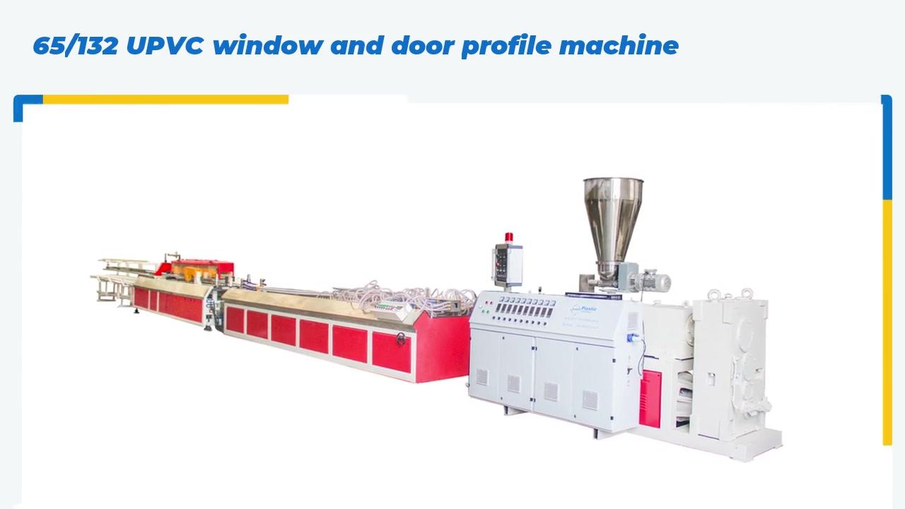 Machine d'extrusion de profil de profilé de fenêtre et de porte de porte UPVC.