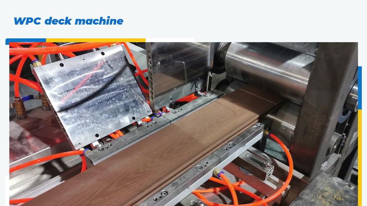 Mejor calidad al aire libre impermeable WPC Decking Padre Máquina de fabricación de la línea de extrusión de perfil de WPC fábrica