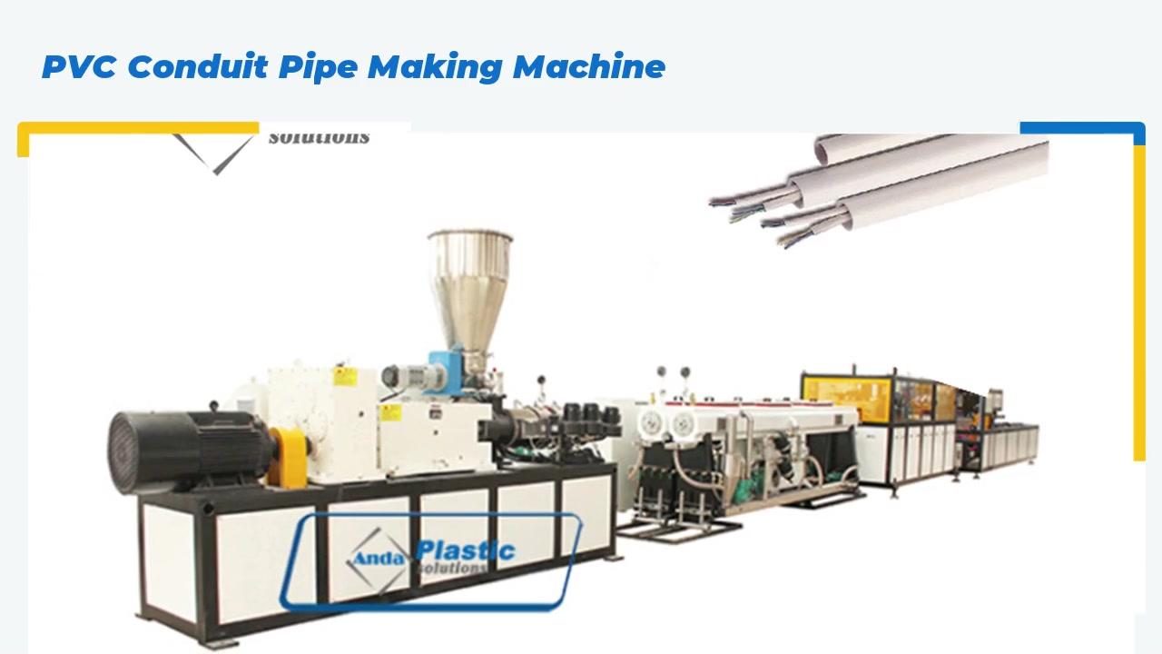 Máquina de fabricación de tubos de conducto de PVC
