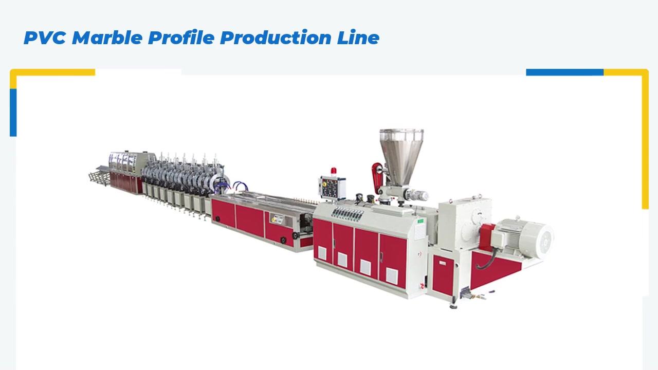 Dây chuyền sản xuất hồ sơ đá cẩm thạch PVC