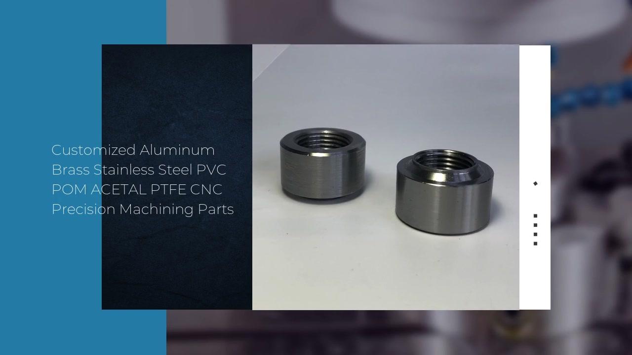 Pièces d'usinage de précision de commande numérique par ordinateur de PVC POM ACETAL PTFE d'acier inoxydable en laiton en aluminium adaptées aux besoins du client