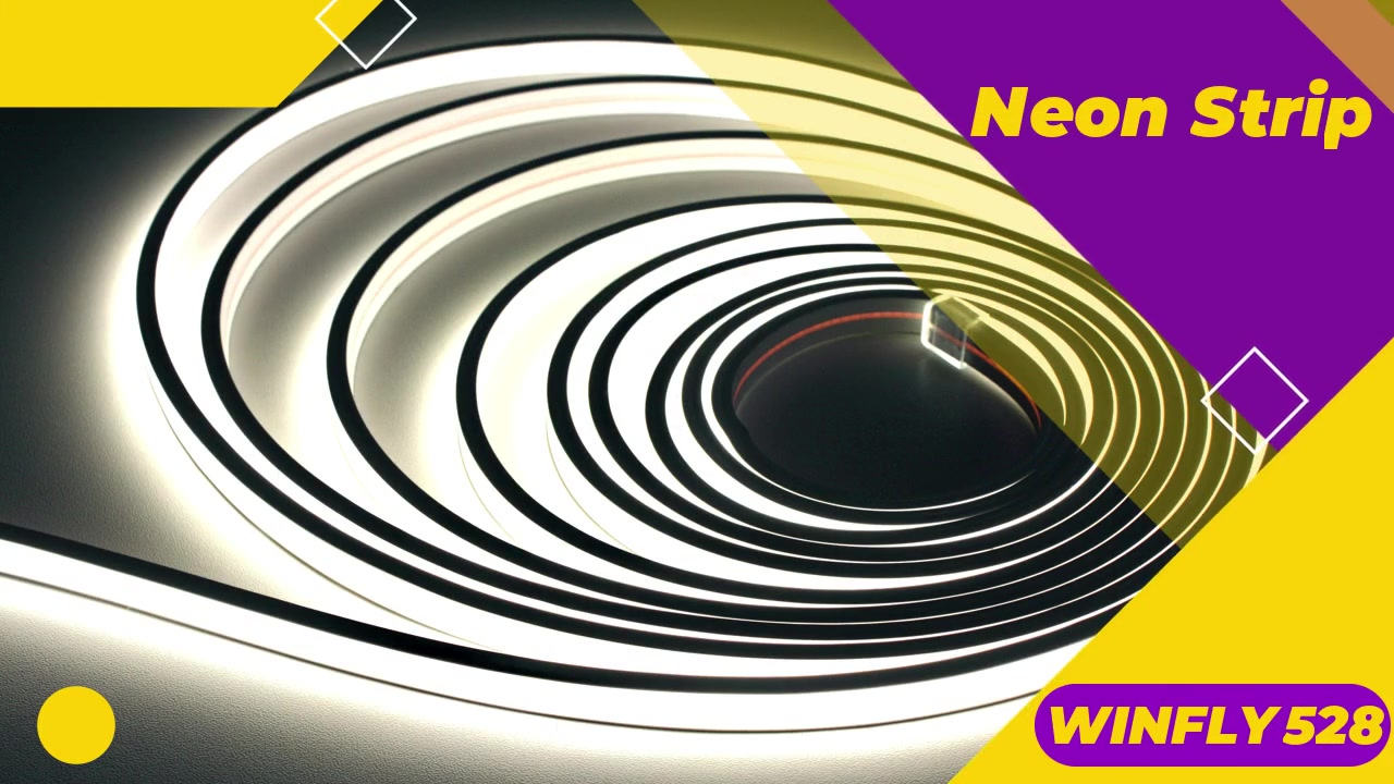 Professional WINFLY528 Neon COB LED Strip 8mm 6000K IP67 24V manufacturers
