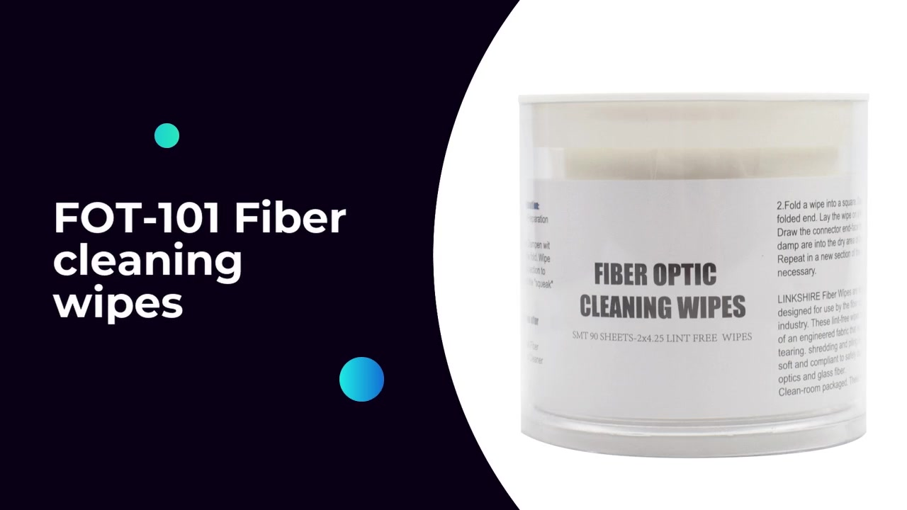 FOT-101 Fiber cleaning wipes