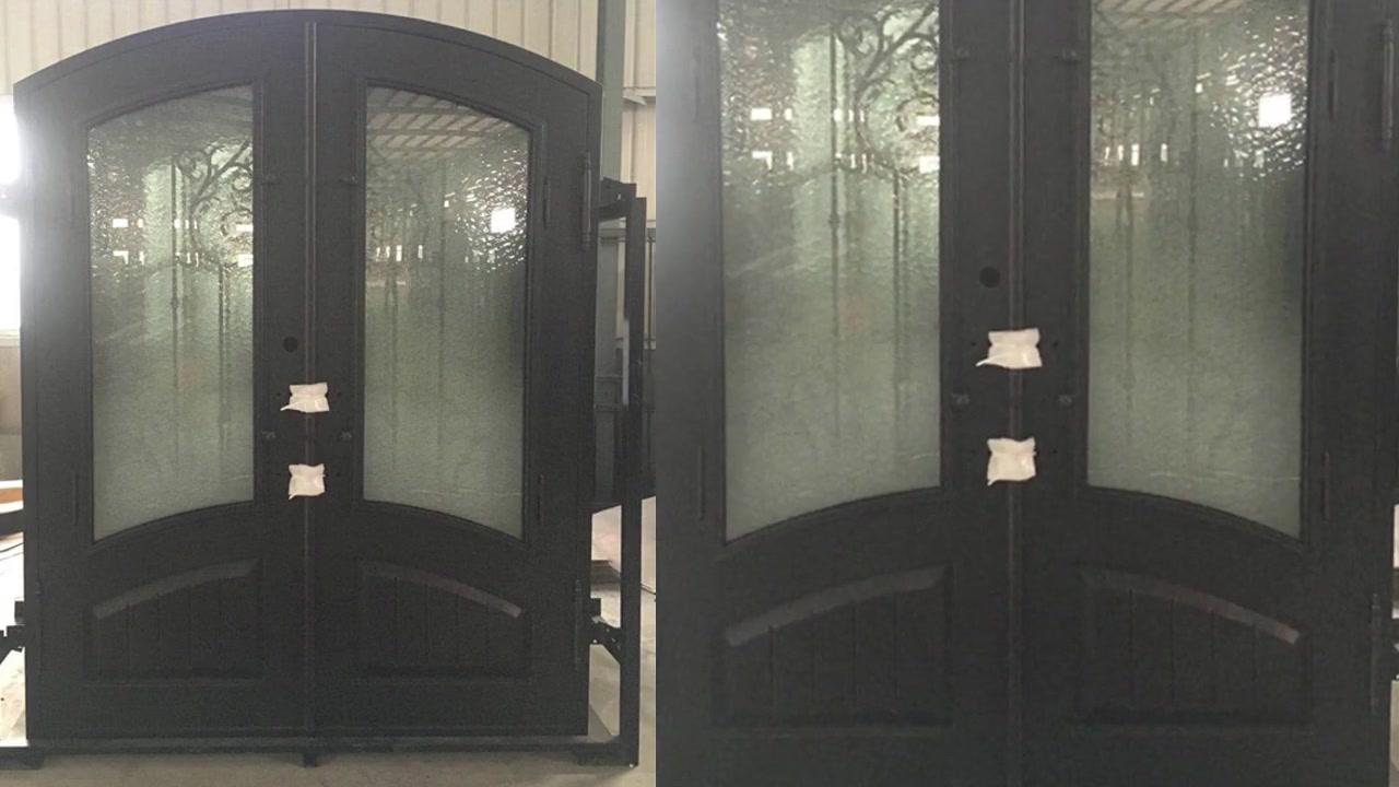 Tym-06 customized processing villa iron art double door