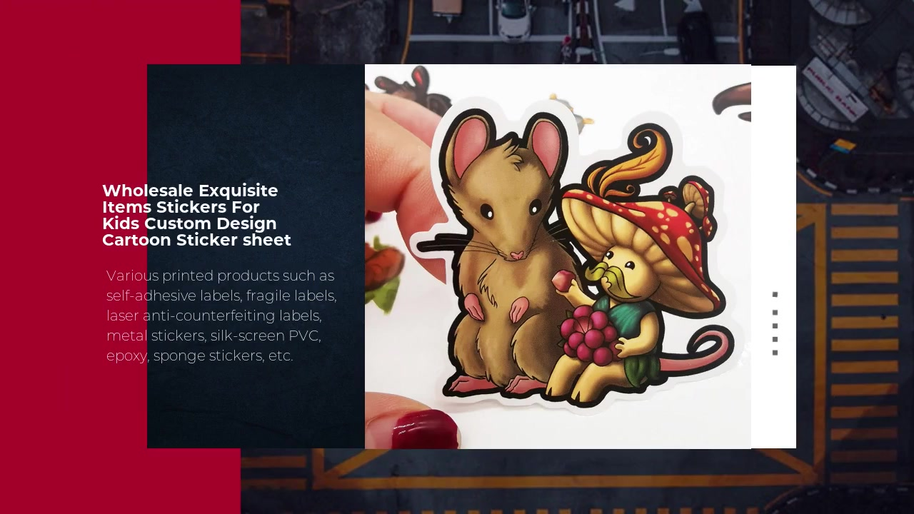 Wholesale Exquisite Items Stickers For Kids Custom Design Cartoon Sticker sheet