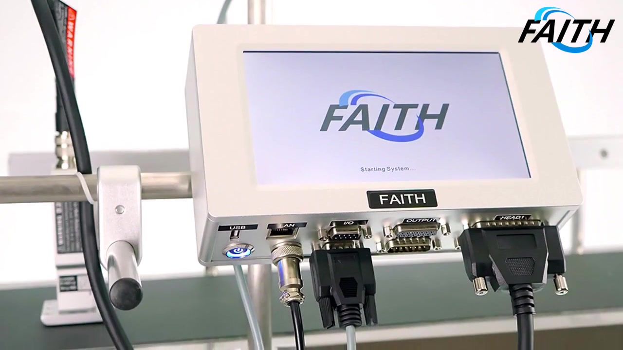 Faith High Speed TIJ Online Printer Intelligent Printing Touch Screen QR Coding Code Logo 40 Languages Continuous Inkjet Printer | Faith