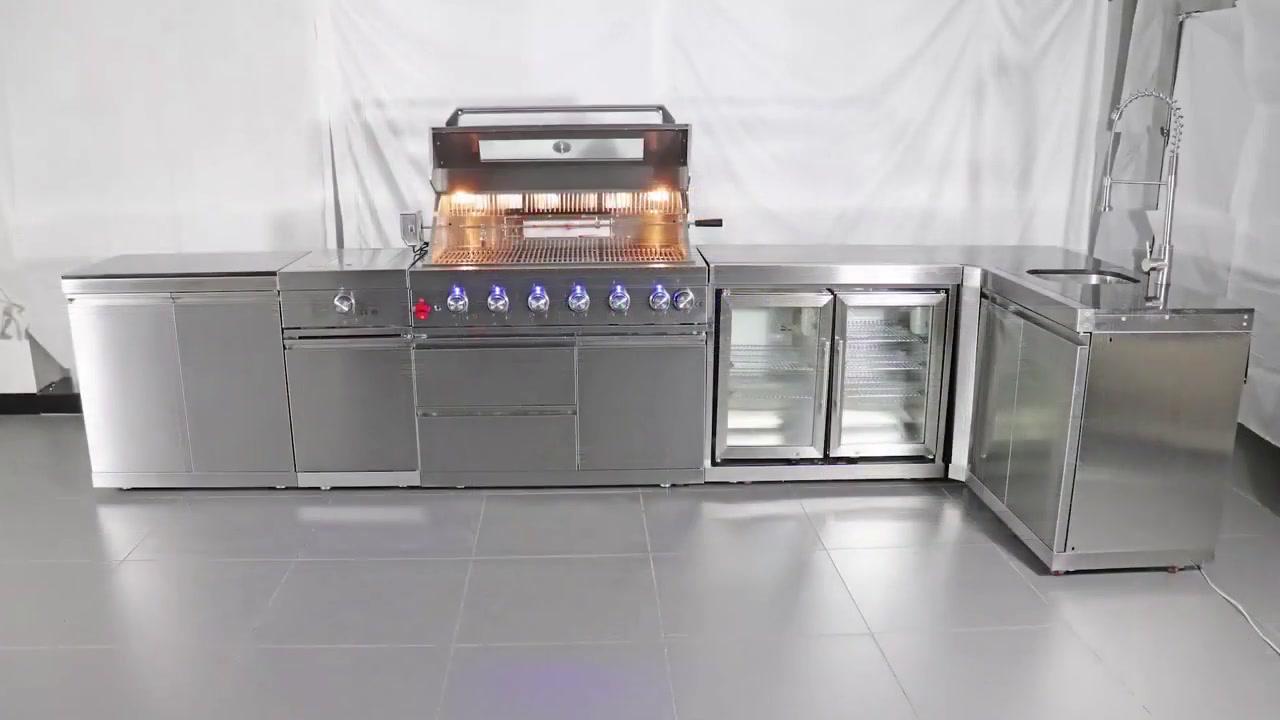 WST-001-5-1 Modular Stainless Steel Outdoor Kitchen Outdoor BBQ Grill