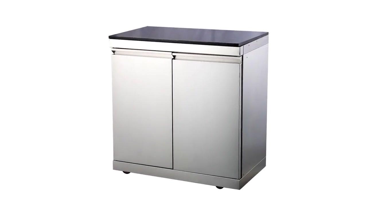 WST-CD lauko virtuvės šilumos atsparumas nerūdijančio plieno BBQ virtuvės spintos