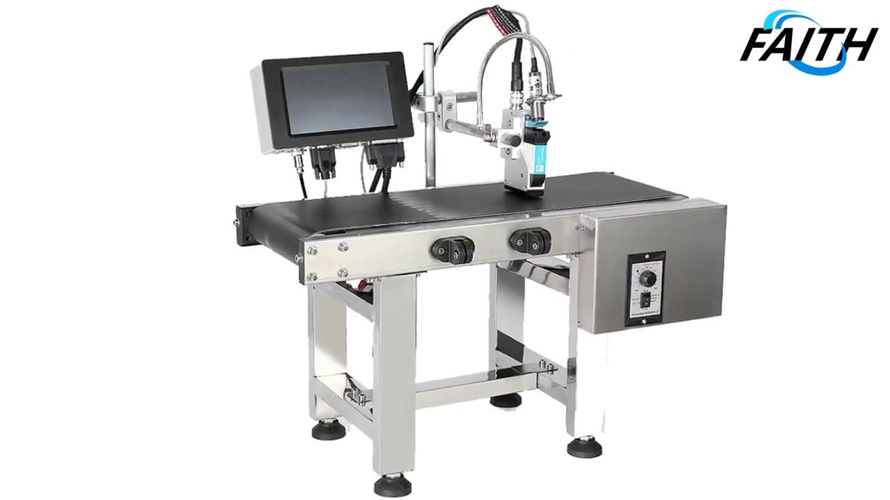 Fé High Speed Tij Online Impressora Inteligente Impressão Touch Screen QR Codificando código Logo 40 Idiomas Impressora a jato de tinta contínua | Fé