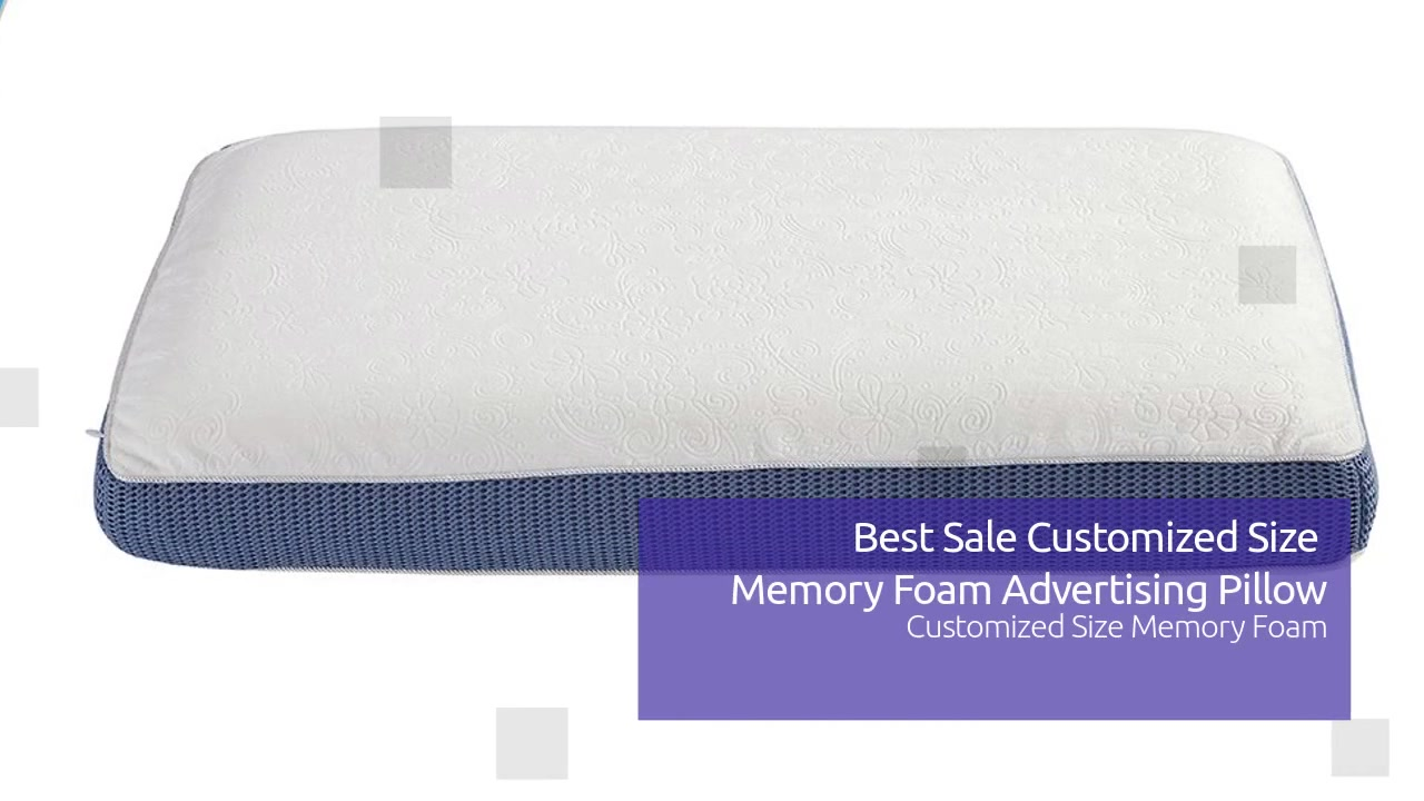 Best Sale Customized Size Memory Foam Advertising Kussing vervaardigers