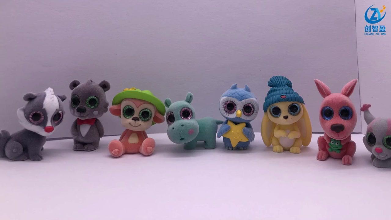Best Cartoon animals flocking, children's games, plastic toys Supplier
