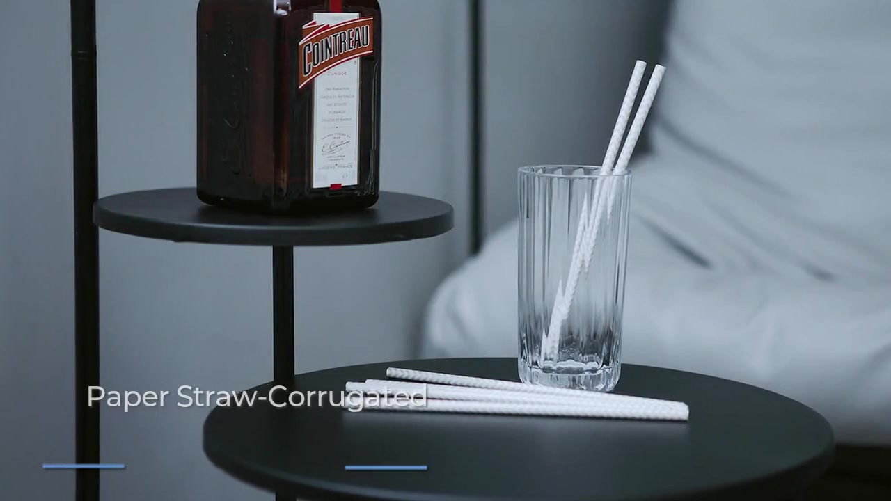Striped Drinking Straws Biodegradable Paper Straws