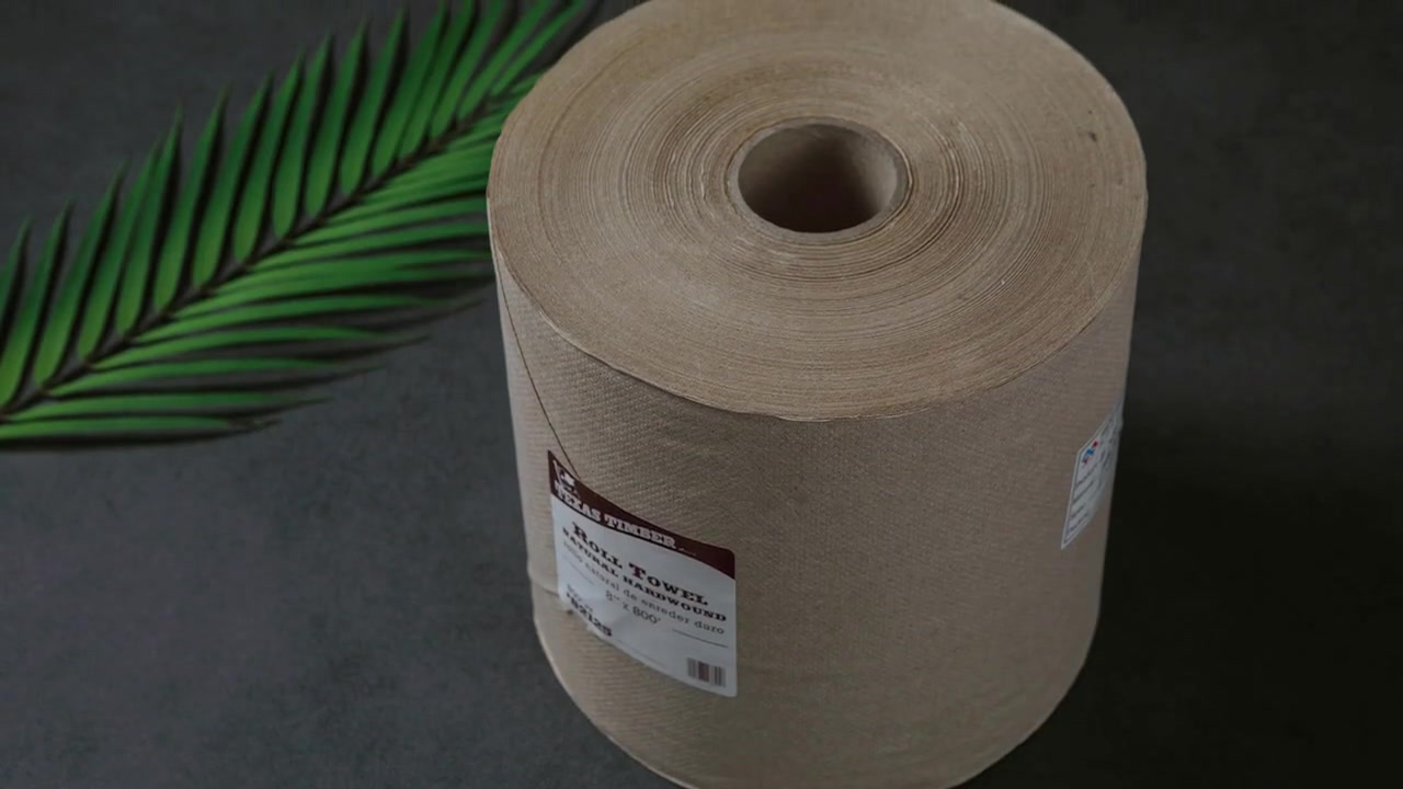 Recycled Pulp Brown Roll Paper Towel