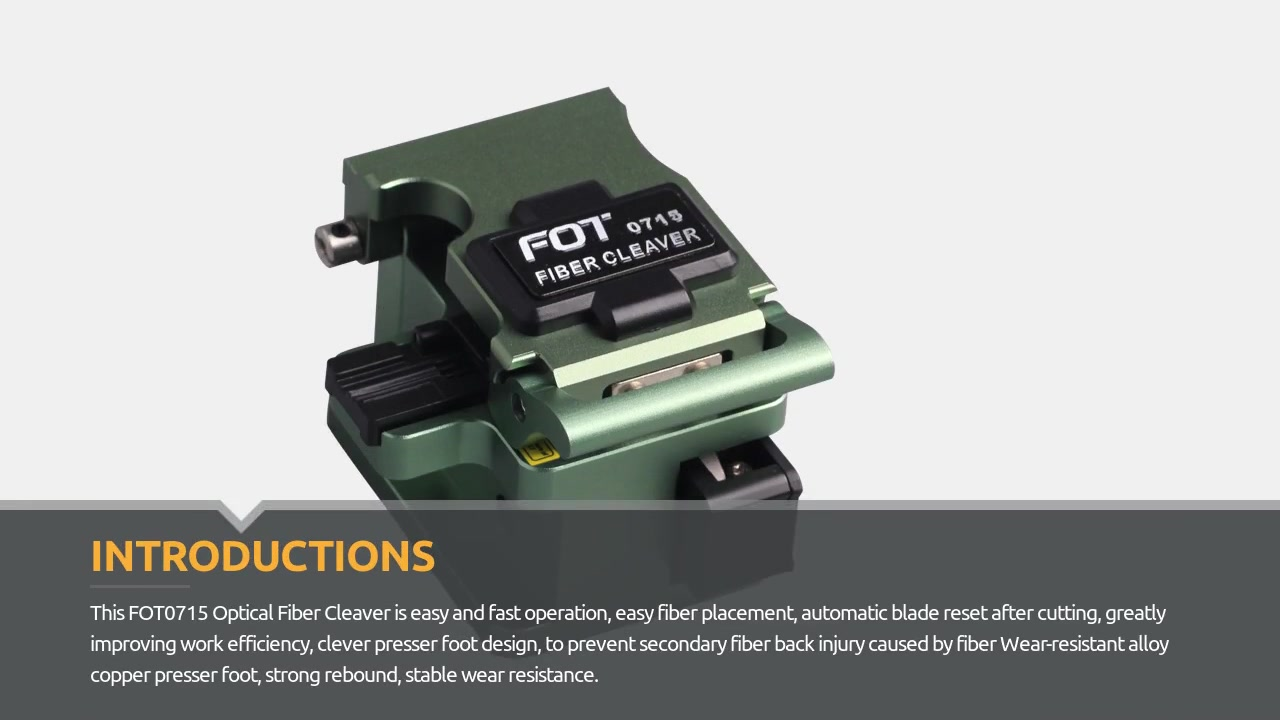 FOT0715 Optical Fiber Cleaver Video Display