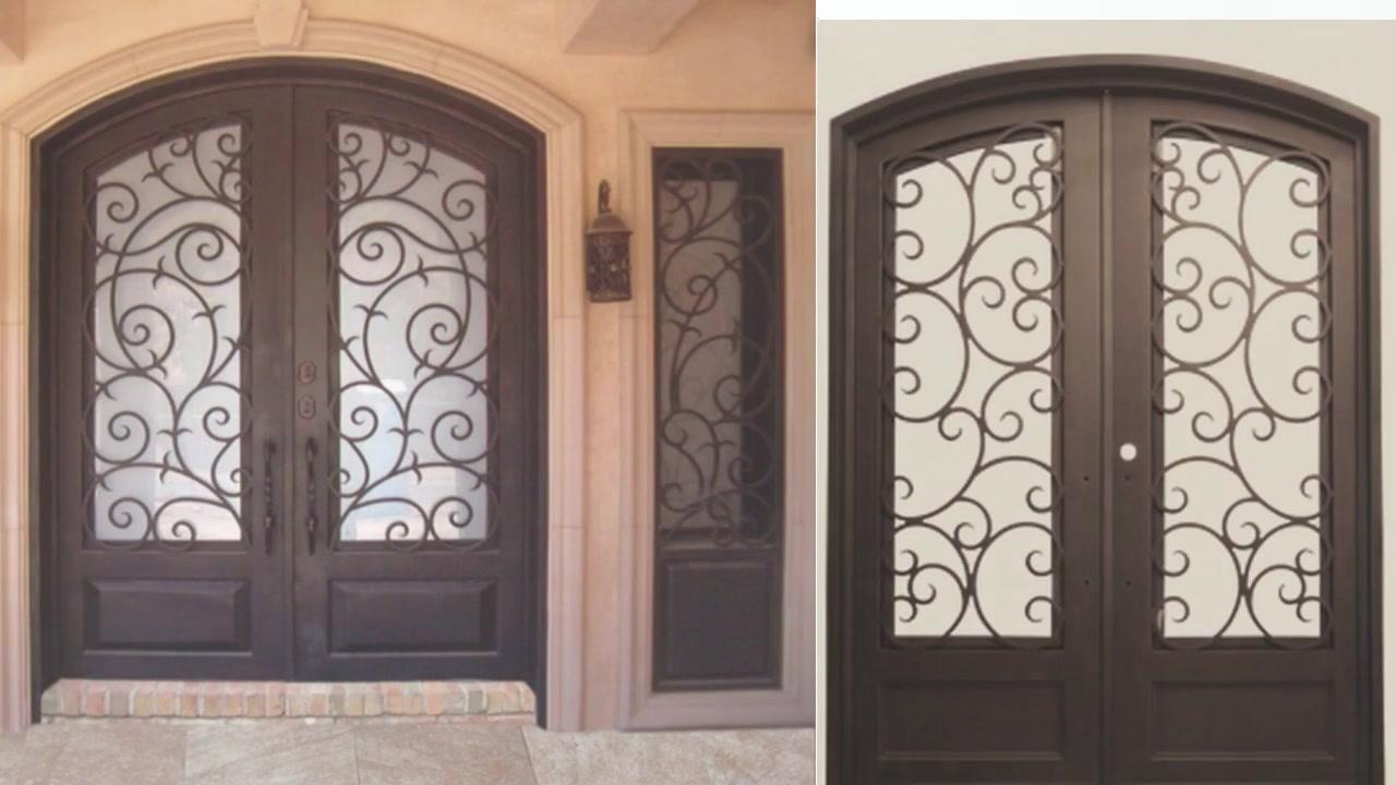 Tym-03 customized processing luxury small arc iron double door