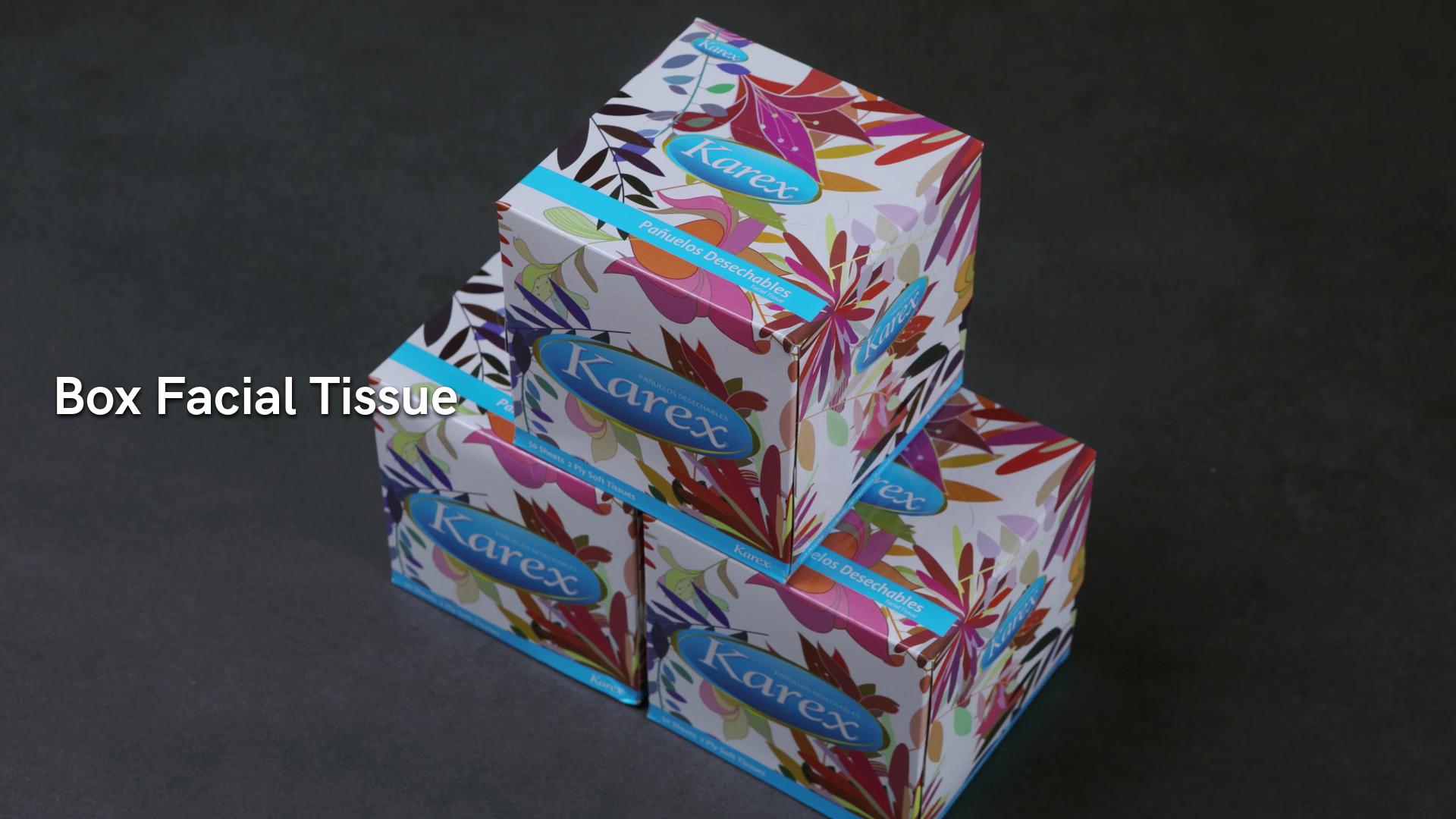 Square Box Facial Tissue Paper Virgin Pulp 2ply