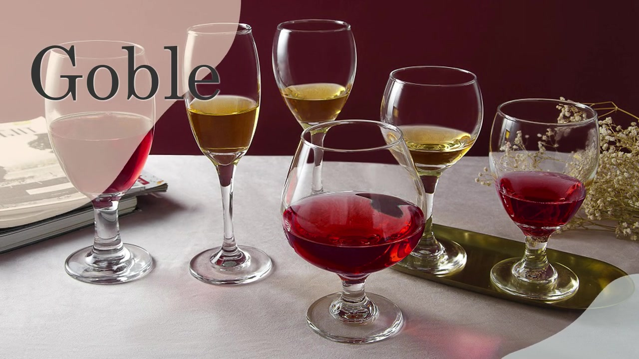 Traditional Crystal Clear Glass Stemware All Purpose Red or White Wine Glasses Champagne Glasses