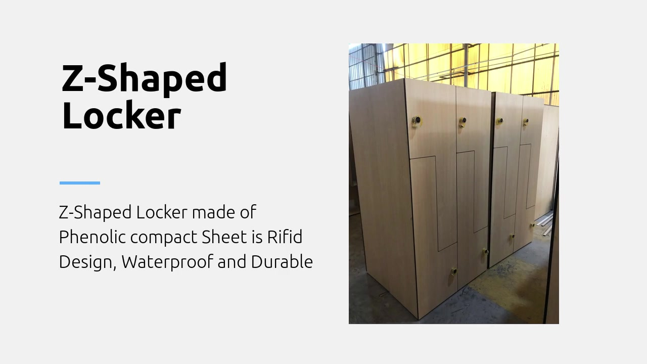 Customized waterproof wood z lockers
