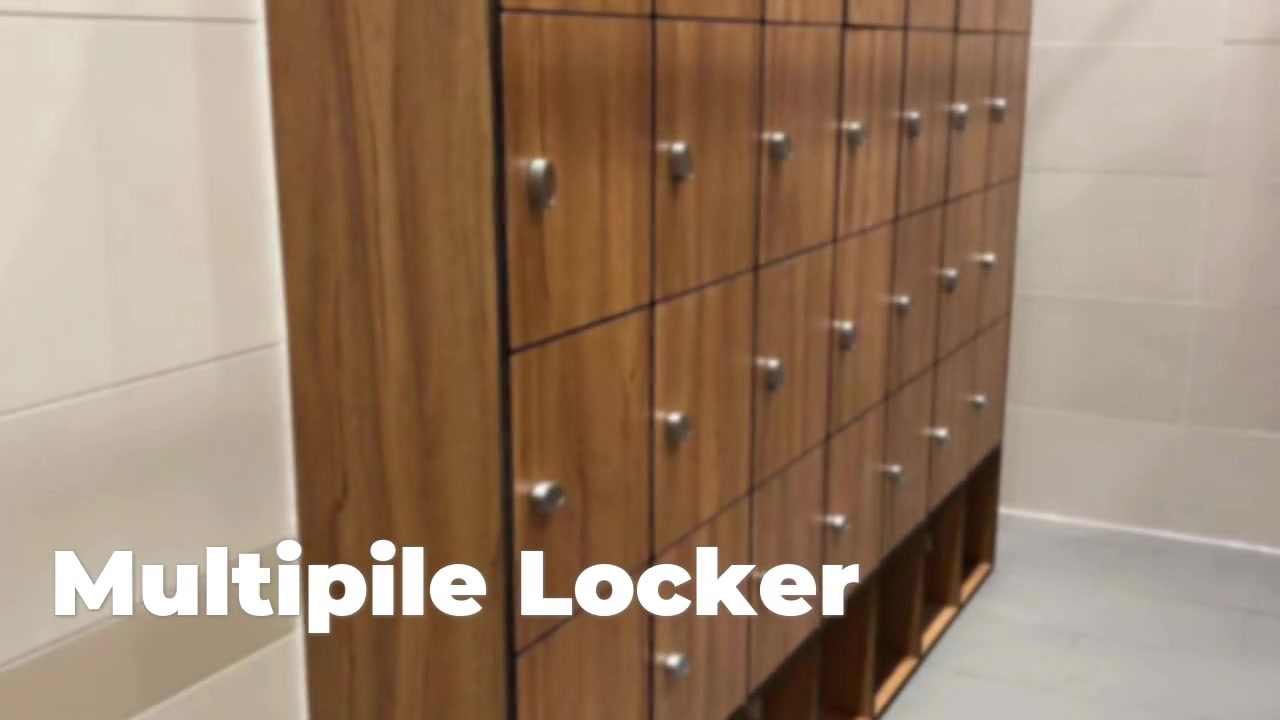 Firmitatem Laminate ligna multa lockers