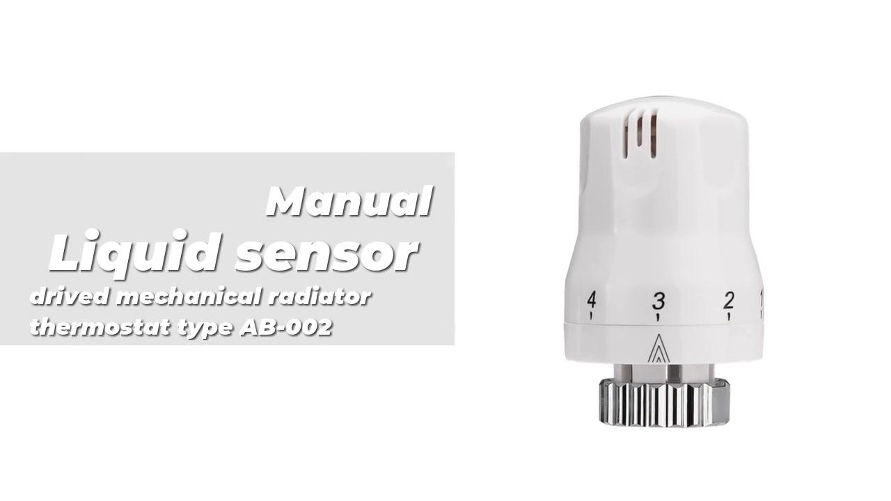 Sensor líquido drivado radiador mecánico Tipo de termostato AB-002