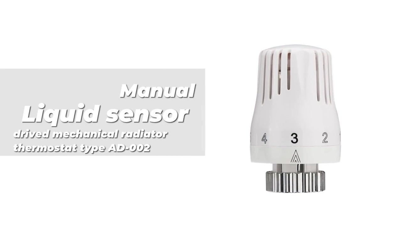 Liquid sensor drived mechanical radiator thermostat type AD-002