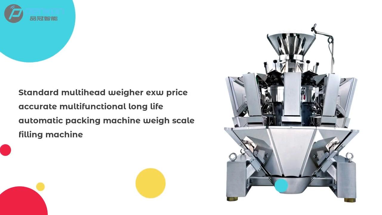 Máy cân nặng đa đầu tiêu chuẩn giá exw chính xác đa chức năng máy đóng gói tự động tuổi thọ cao