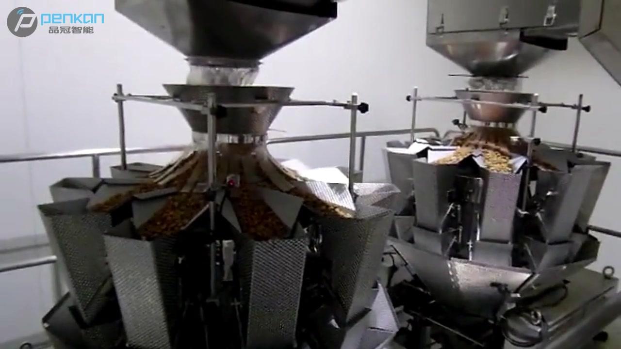 Macchina elettrica elettrica e imballaggio elettrica professionale per patatine fritte di patate 10 produttori di pesatrice testa