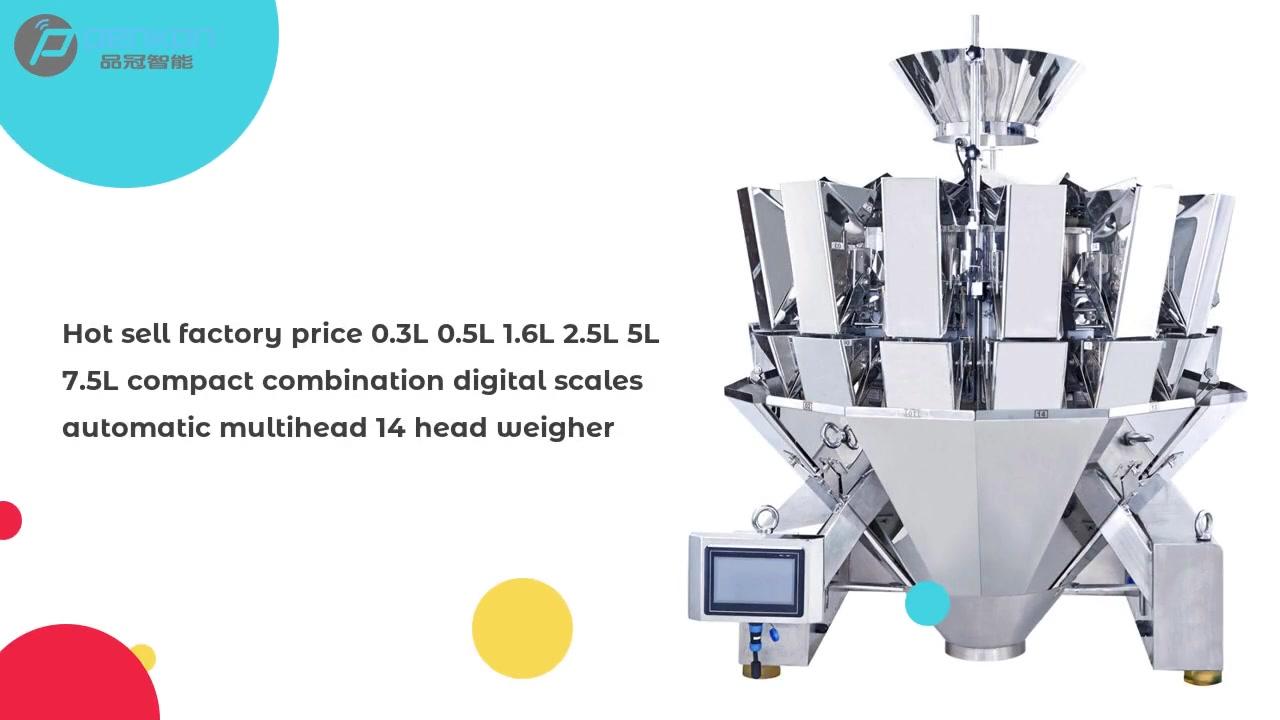 Preço de fábrica de venda quente 0.3L 0.5L 1.6L 2.5L 5L 7.5L Combinação de alta qualidade Escalas digitais MultiHead 10/14 pesador