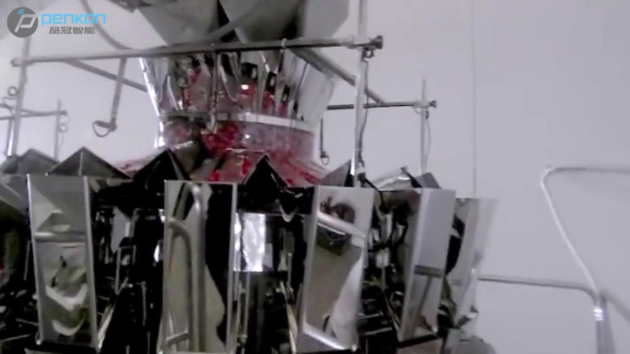 Profissional 3 sets 20 pesadores de cabeça sistema de embalagem de caixa todos automáticos para fabricantes de tomates cereja