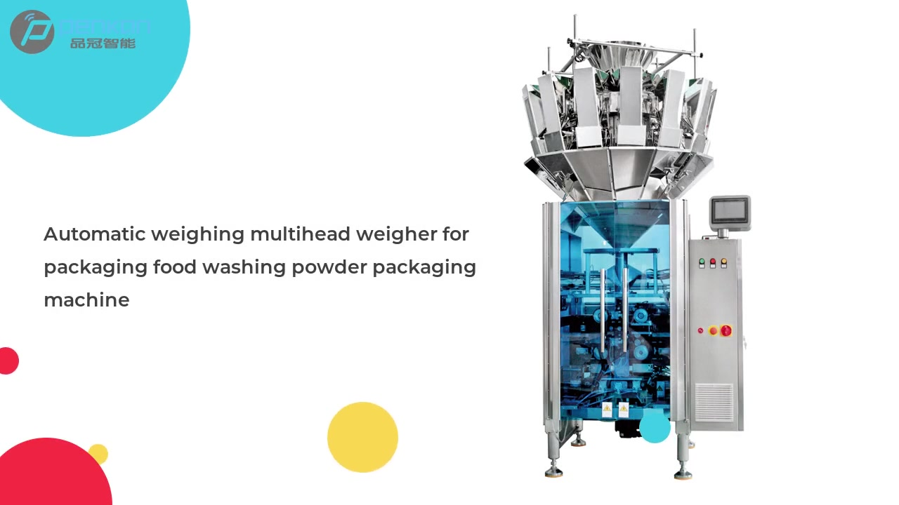 Automatic weighing multihead weigher for packaging food washing powder packaging machine