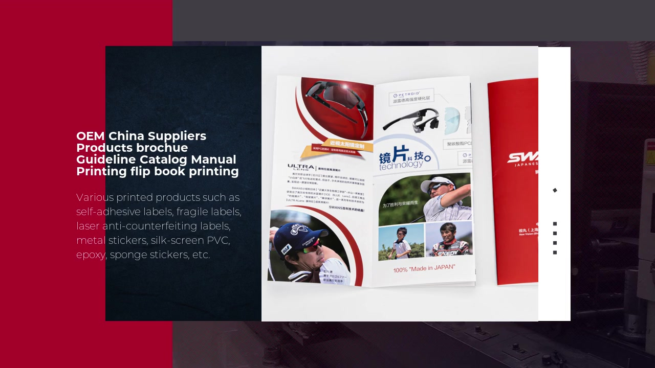 OEM China Suppliers Products brochue Guideline Catalog Manual Printing flip book printing