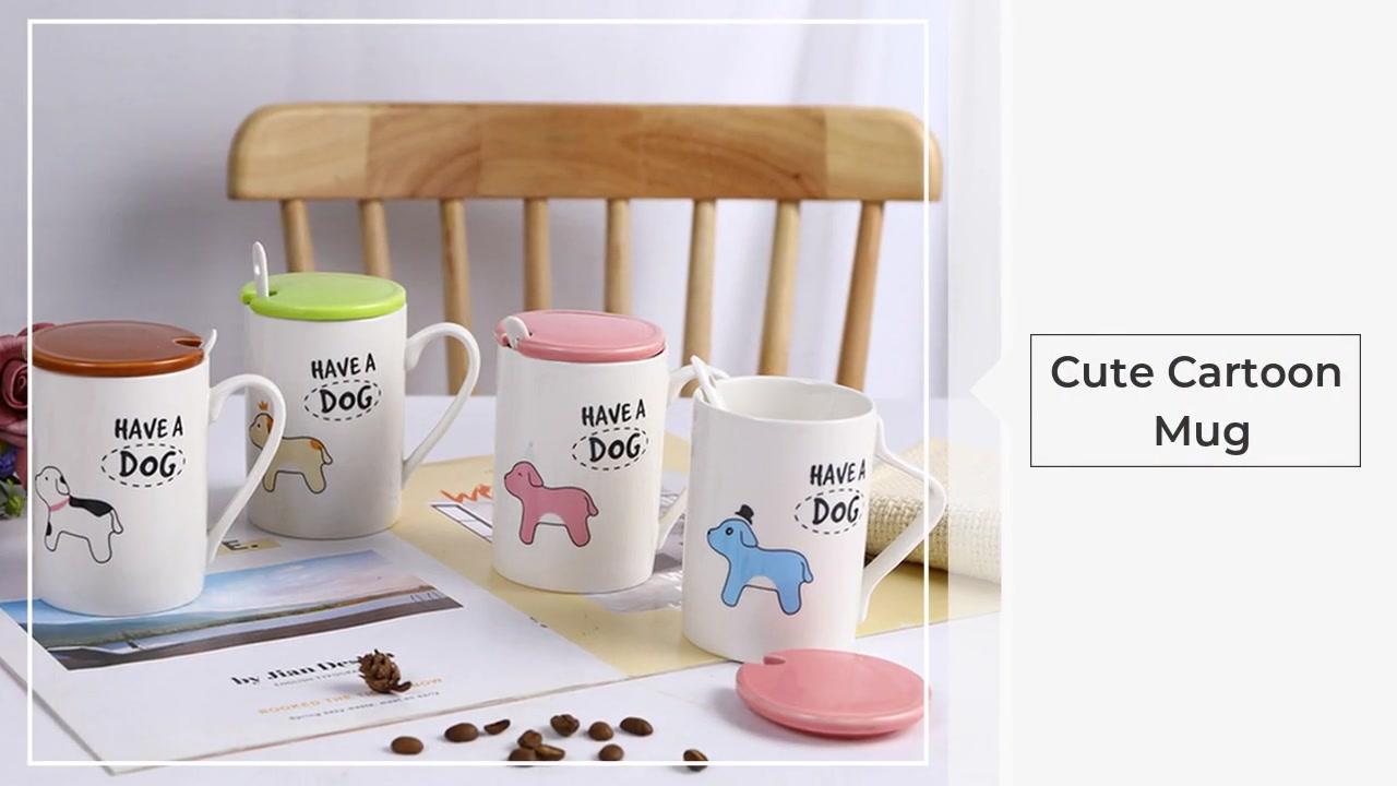 Cartoon Animal Carino semplice tazza di ceramica tazza di caffè tazza di latte