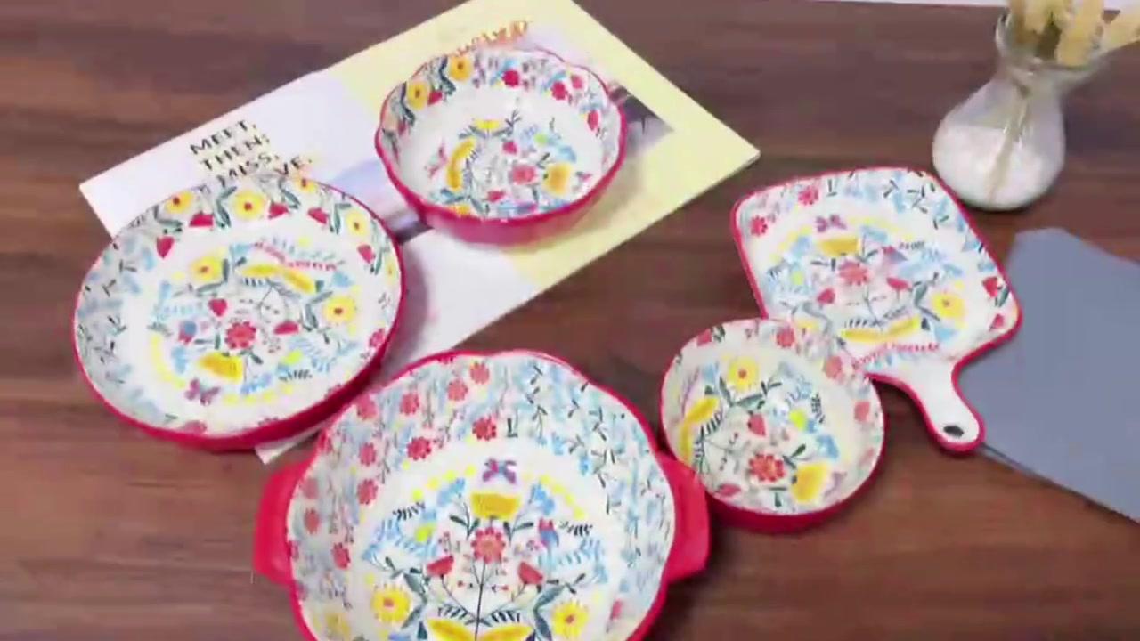 Retro Garden Lace Bowl e Piatto Set Piatto Piatto Piatto Western Steak Plate Combinazione Ciotola di riso Ciotola e bacchette Set