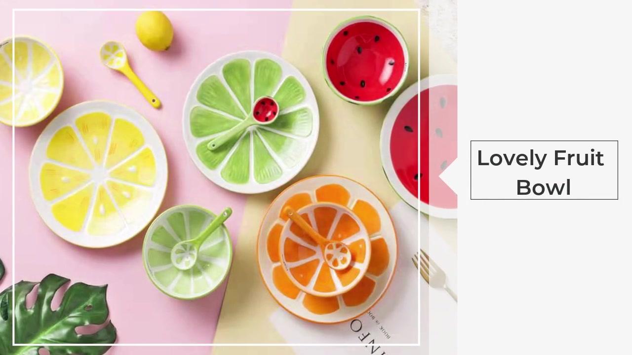 Szép gyümölcs tál étel kanál háromrészes öltöny
