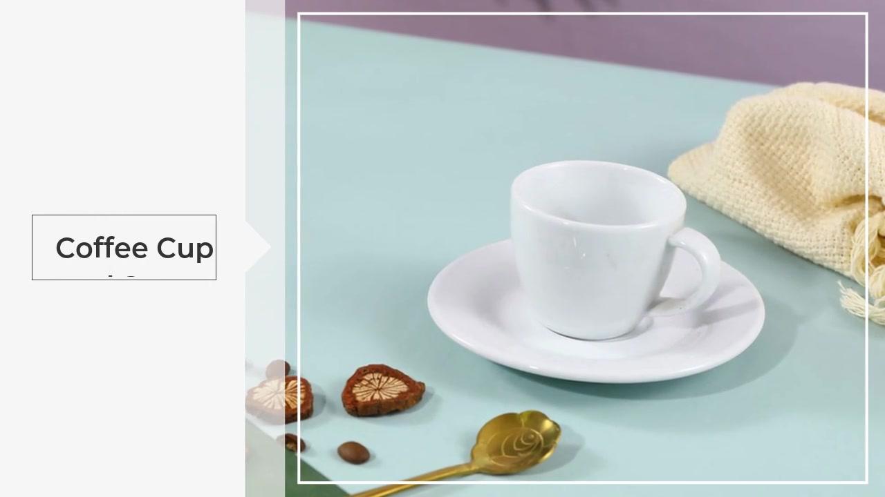 Tazza e piattino in ceramica creativa in stile europeo