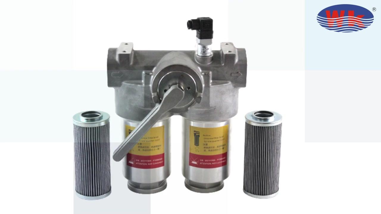 Filtro dúplex de filtro de aceite hidráulico weike