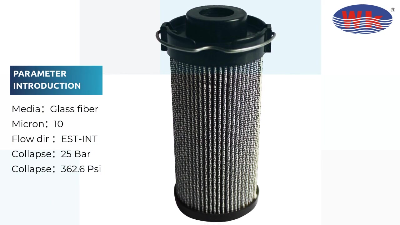 Fibra de vidro de Micron com filtro hidráulico de válvula por passagem WKR75G10D