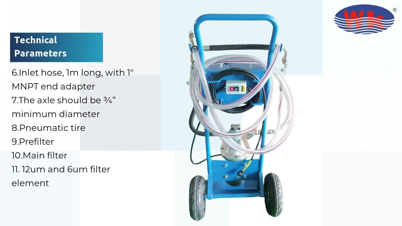 Carrito de filtro de 2 ruedas